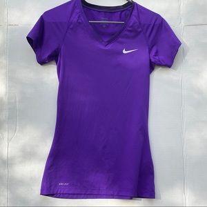 Purple Nike Pro Dri-Fit Shirt